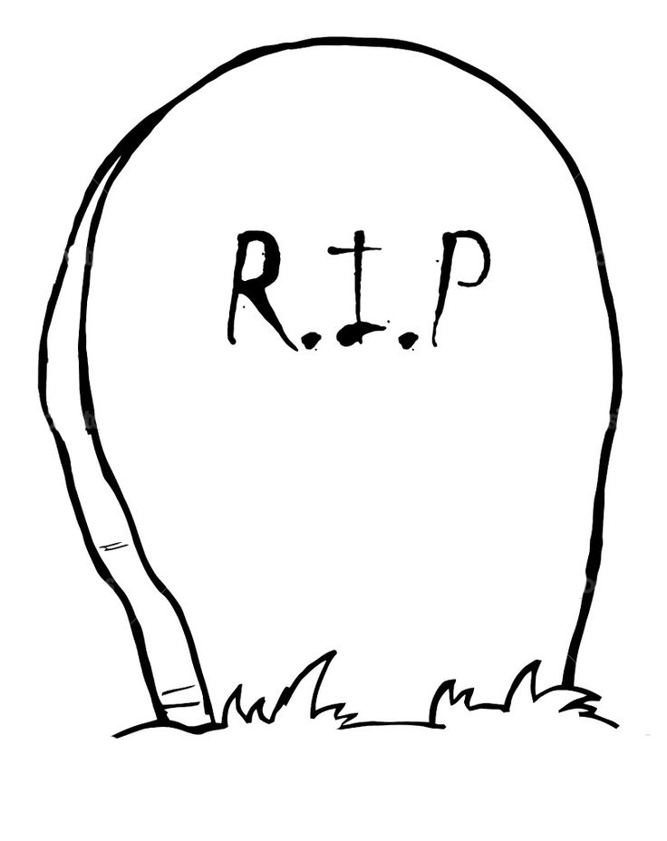 Gravestone Coloring Pages