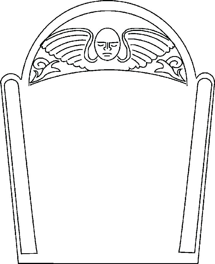 736x904 Tombstone Coloring Page Lots Of Tombstone Templates For Boards