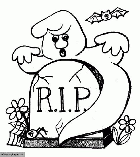 485x546 Gravestone Printable Coloring Pages