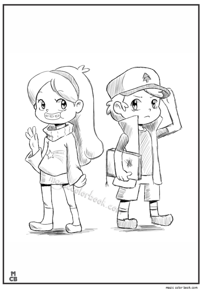 685x975 Gravity Falls Coloring Pages Crafting With Kaylee