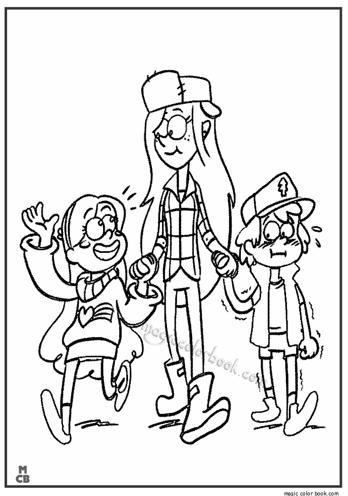 685x975 Gravity Falls Coloring Pages
