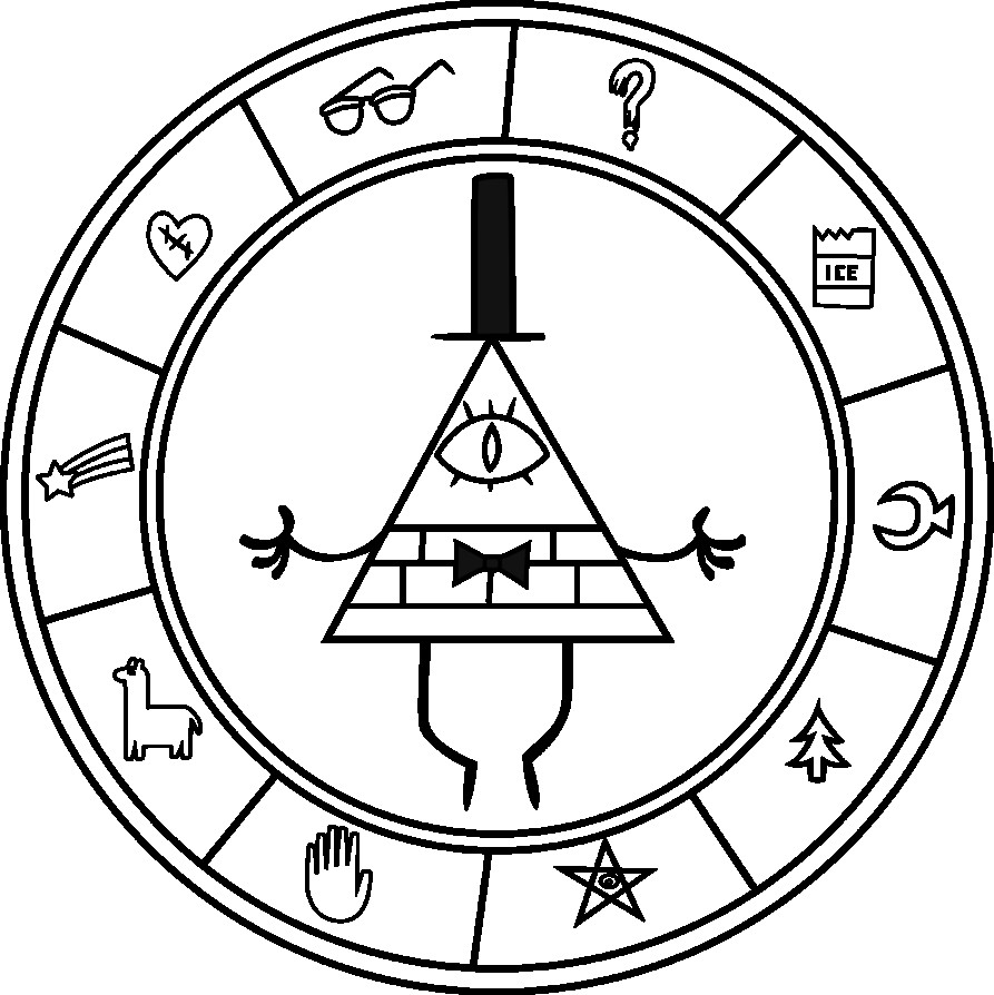 893x894 Gravity Falls Coloring Pages Bill