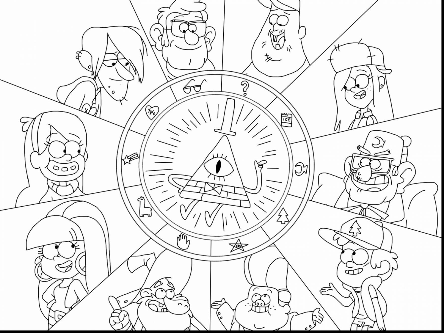1760x1320 Gravity Falls Coloring Pages Characters