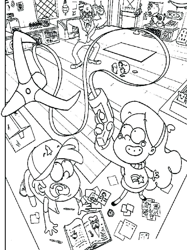 750x1000 Gravity Falls Coloring Pages Gravity Falls Coloring Pages Gravity