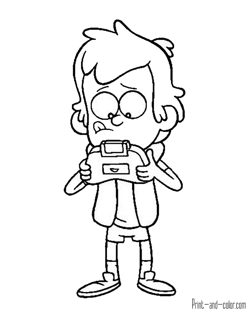 800x1000 Gravity Falls Coloring Pages Print