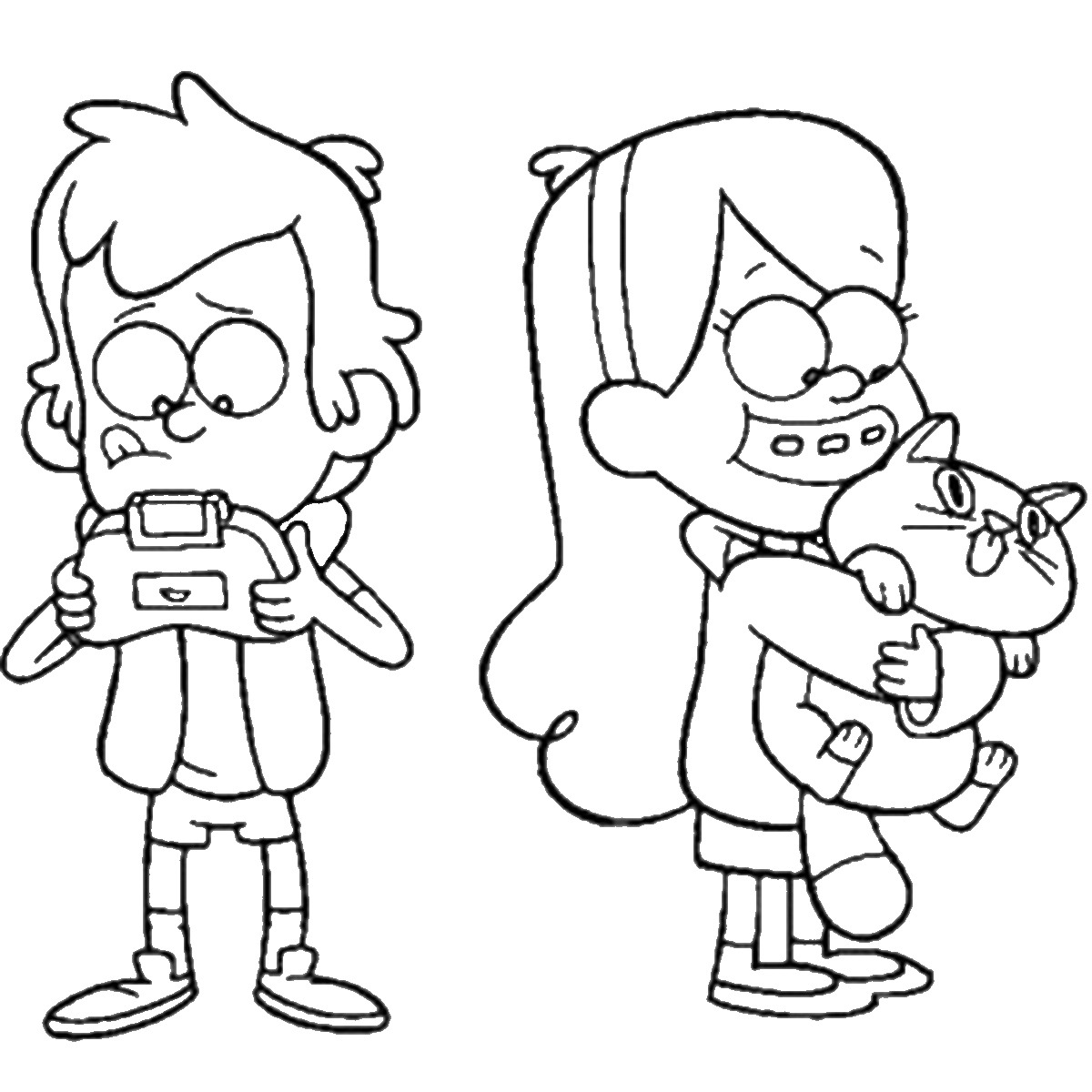 1200x1200 Printable Gravity Falls Coloring Pages