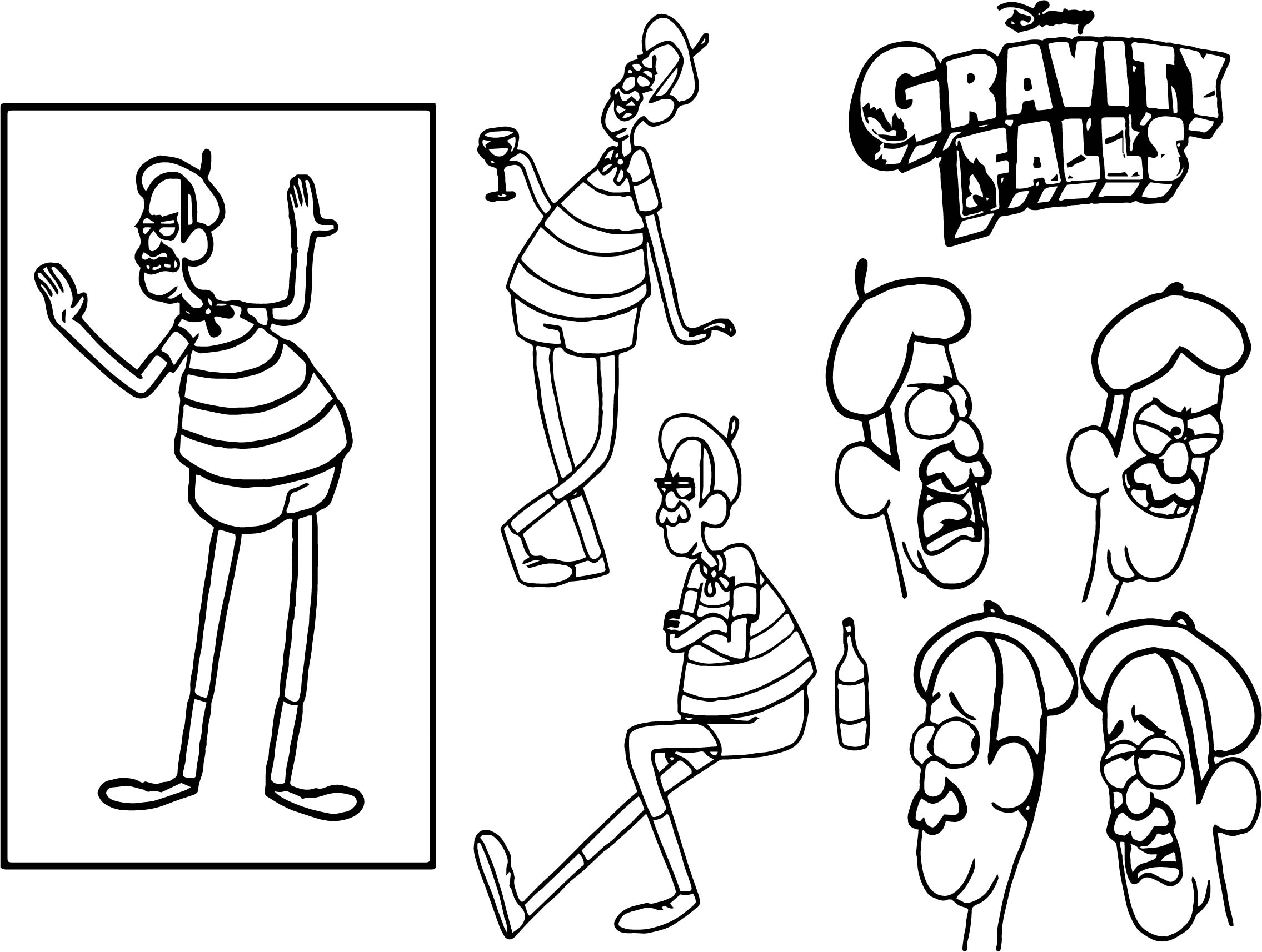 2271x1714 Character Design Assignment One Gravity Falls Coloring Page