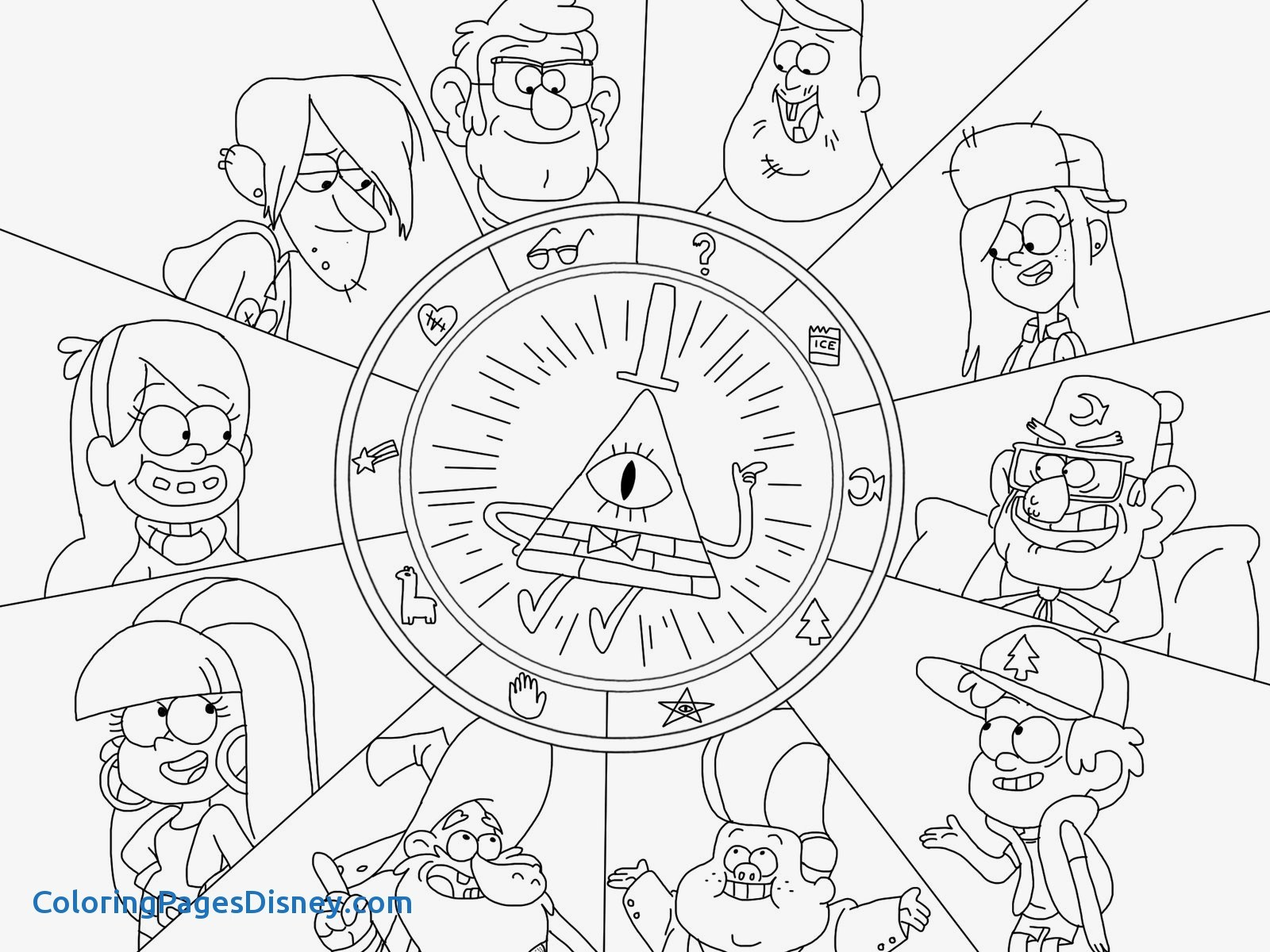 1600x1200 Coloring Pages Gravity Falls Best Of Gnome Gravity Falls Coloring