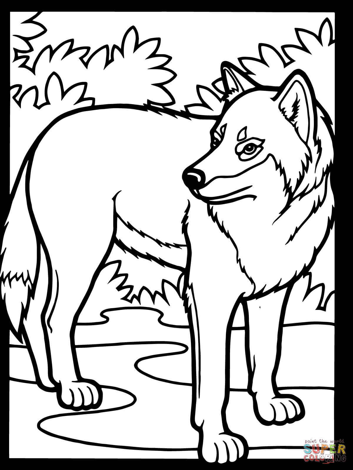 1200x1600 Instructive Gray Wolf Coloring Page Pages Free