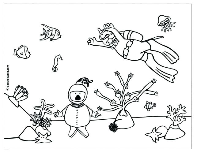 643x500 Free Great Barrier Reef Coloring Pages Page Coral Printable Click