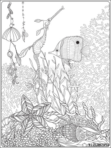 376x500 Great Barrier Reef Coloring Book