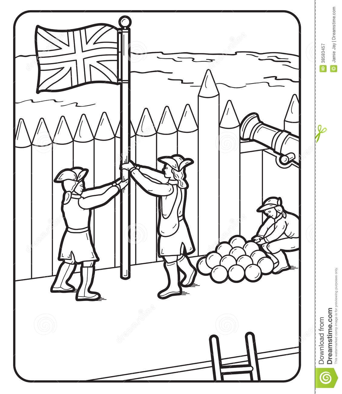 Great Britain Flag Coloring Pages