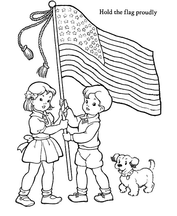 600x734 Hold The Us Flag Proudly Patriots Day Coloring Pages Best Place
