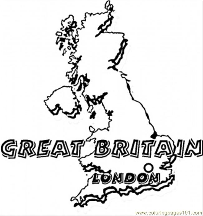650x693 Map Of Great Britain Coloring Page
