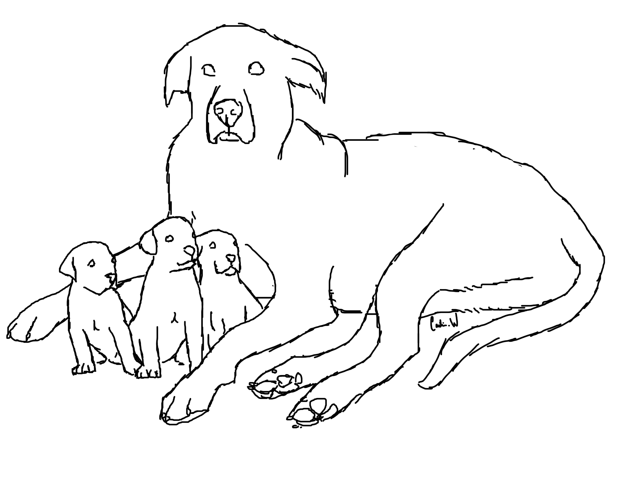 2500x2000 Great Dane Coloring Pages