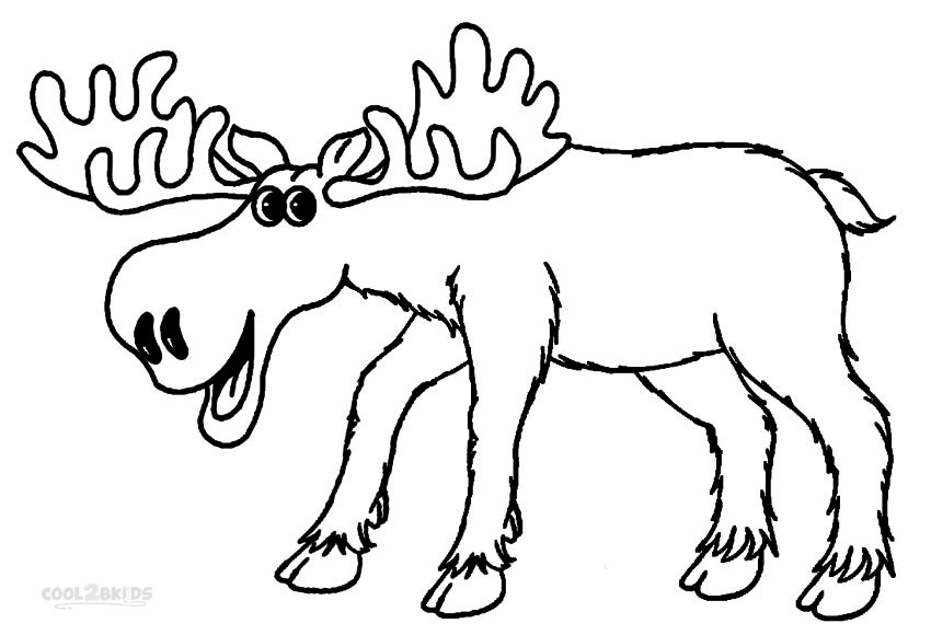 850x580 Printable Moose Coloring Pages For Kids