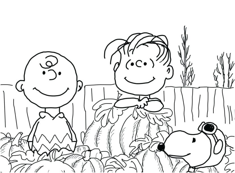Great Pumpkin Charlie Brown Coloring Pages