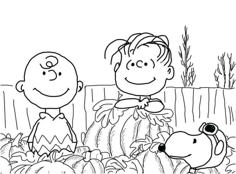 827x609 Big Pumpkin Coloring Page The Great Pumpkin Charlie Brown Coloring