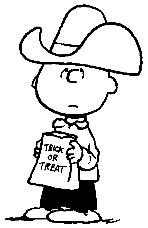 576x884 Free Printable Charlie Brown Halloween Coloring Pages