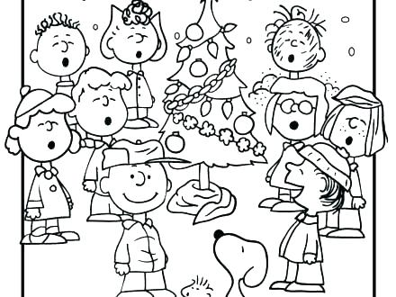 440x330 Snoopy Pumpkin Coloring Pages Its The Great Charlie Brown Great