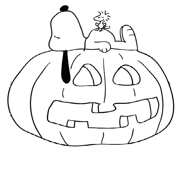 600x578 Charlie Brown Coloring Pages Its The Great Pumpkin Charlie Brown
