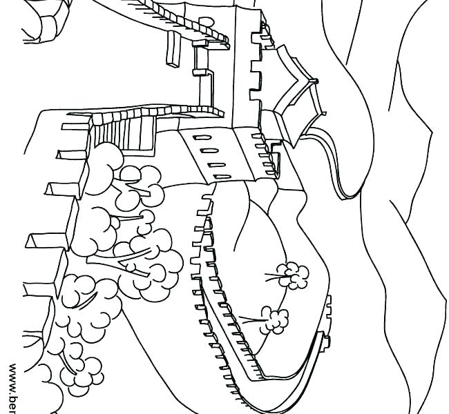 Great Wall Of China Coloring Page