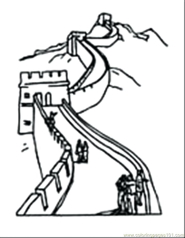 650x836 Great Wall China Coloring Pages Best Ancient Free Download