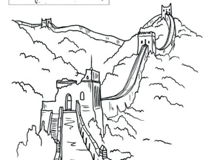 440x330 Great Wall Of China Coloring Page China Coloring Pages Map Of Page