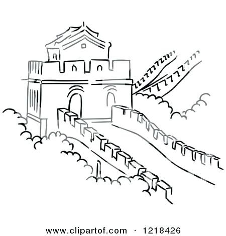 450x470 Great Wall Of China Coloring Page Coloring Pages New Year Coloring