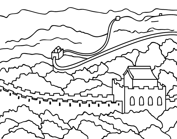 Great Wall Of China Coloring Page at GetDrawings.com | Free for ...