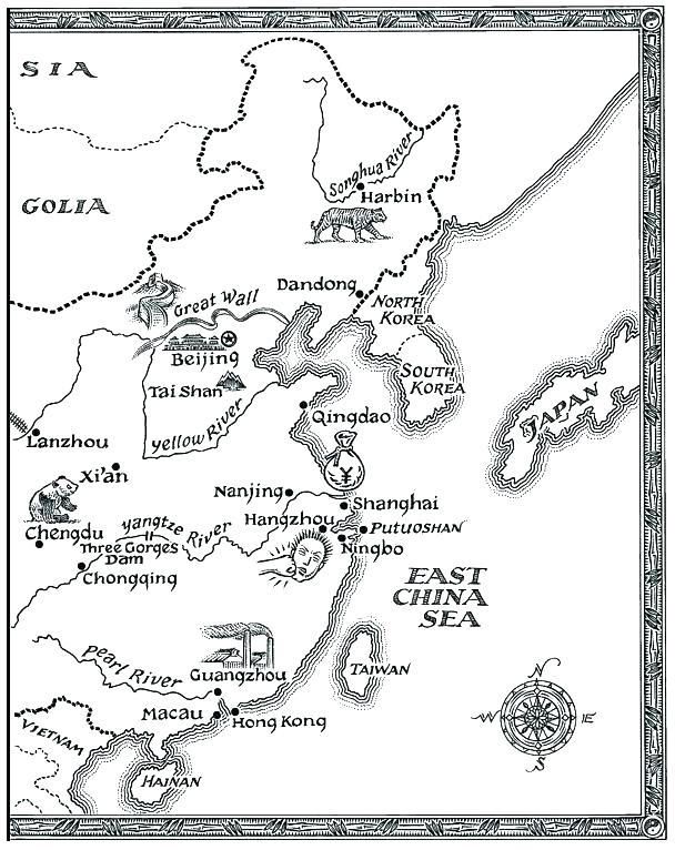 608x766 China Map Coloring Page Blank Maps Of The Us And Other Countries