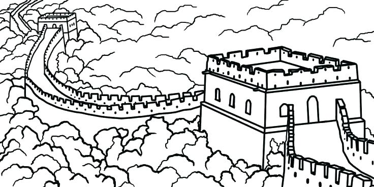 736x368 Chinese Coloring Page