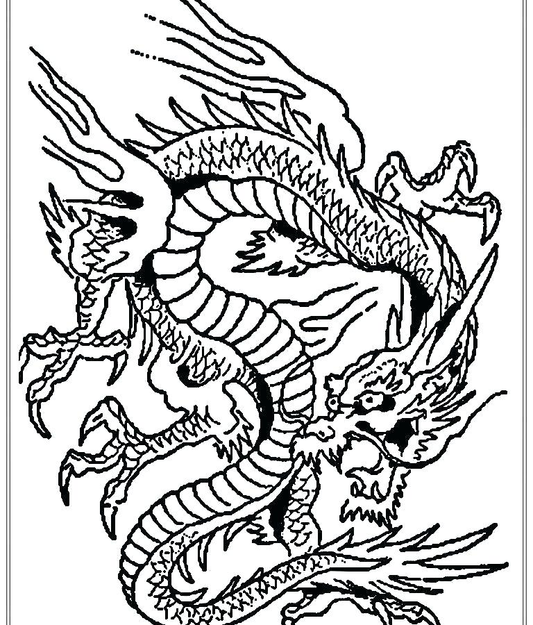 768x900 Chinese Coloring Pages
