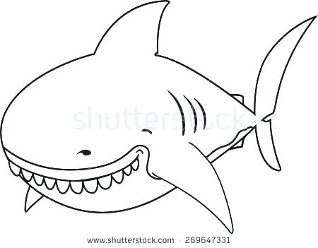 450x351 Great White Shark Coloring Book Hammerhead Shark Coloring Pages