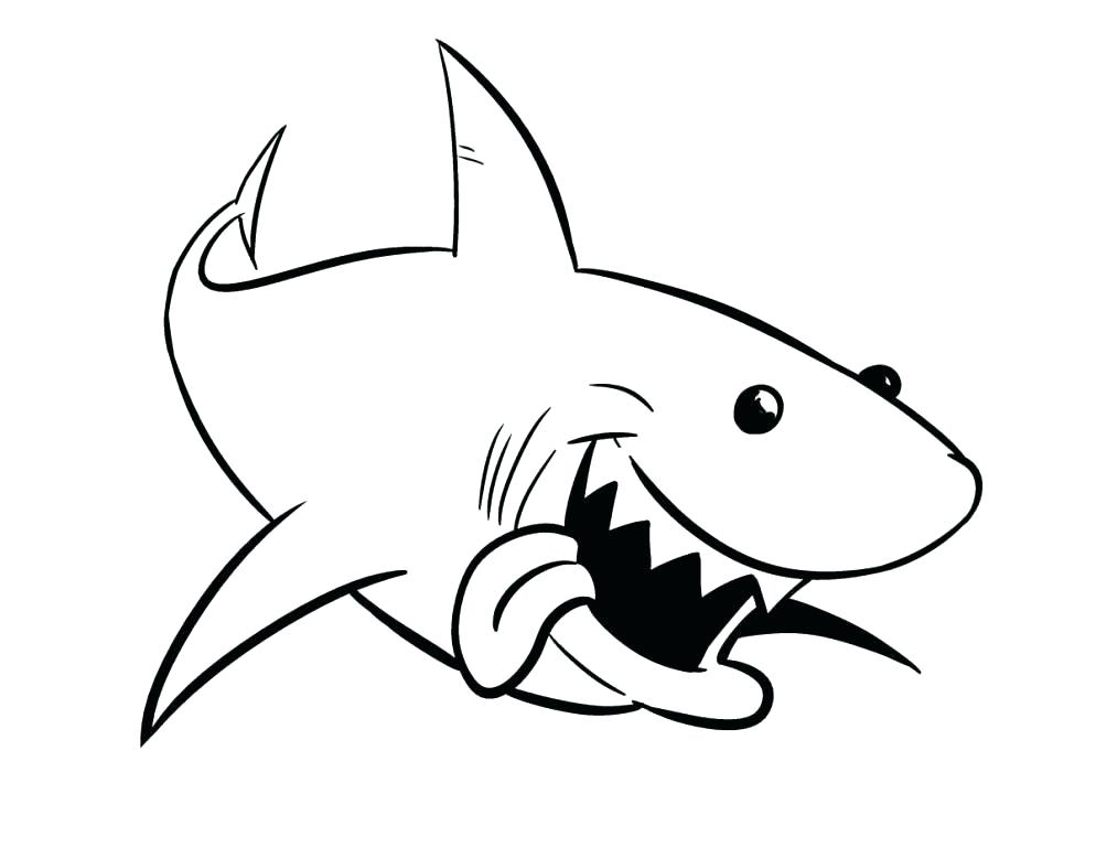 994x768 Great White Shark Coloring Page Coloring Shark Cute Shark Coloring