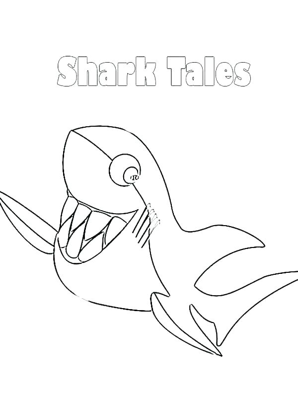 600x825 Great White Shark Coloring Pages And Jaws Shark Coloring Pages