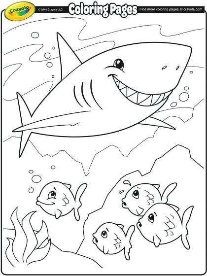 420x560 Shark Coloring Pages