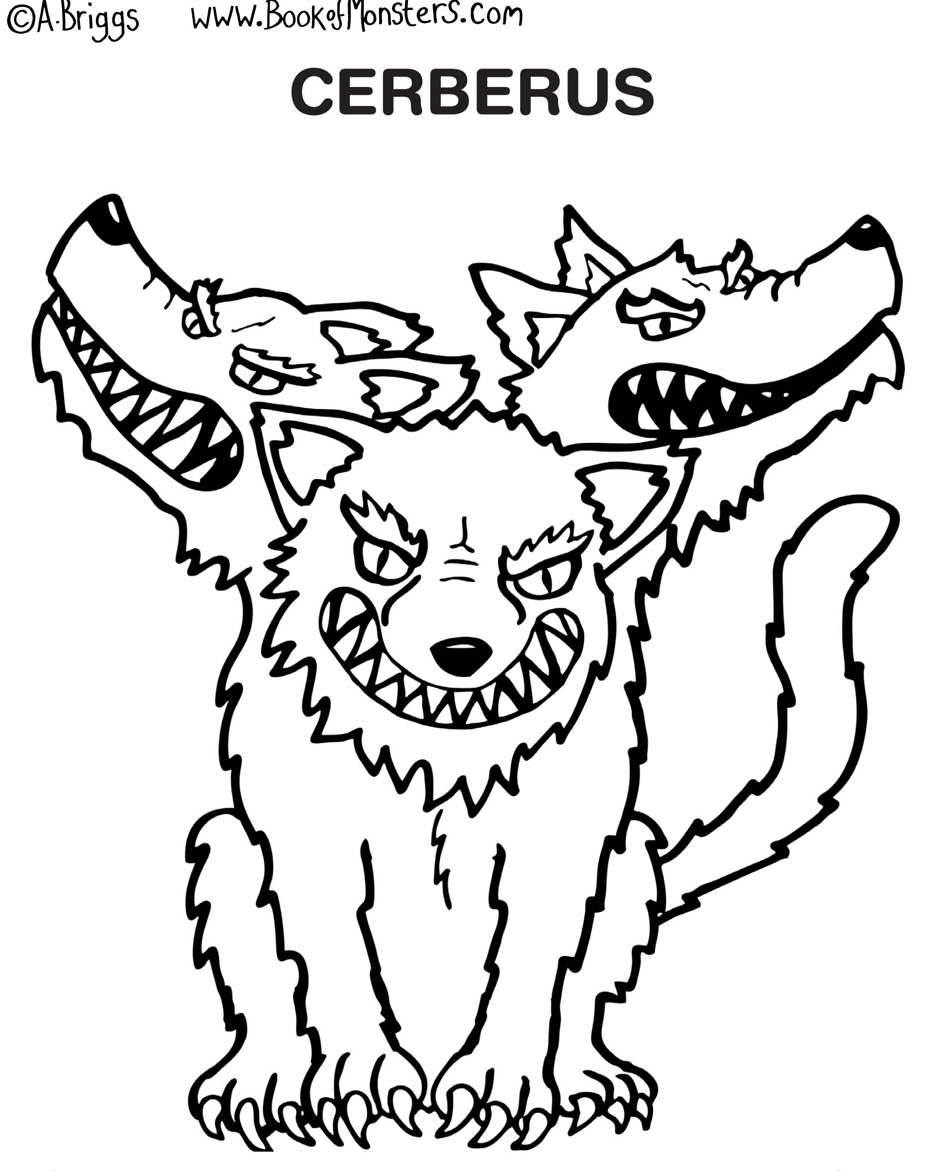 The Best Free Cerberus Coloring Page Images Download From 23 Free