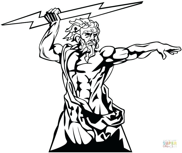 Greek Gods Coloring Pages