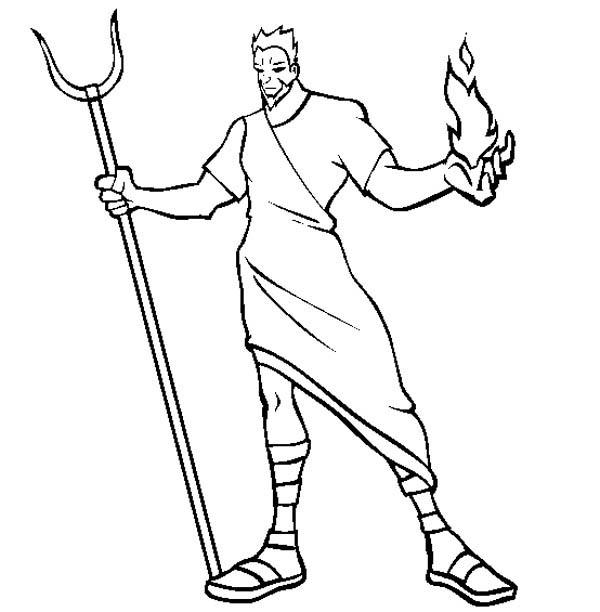 600x612 Hades The Greek Myth God Coloring Page