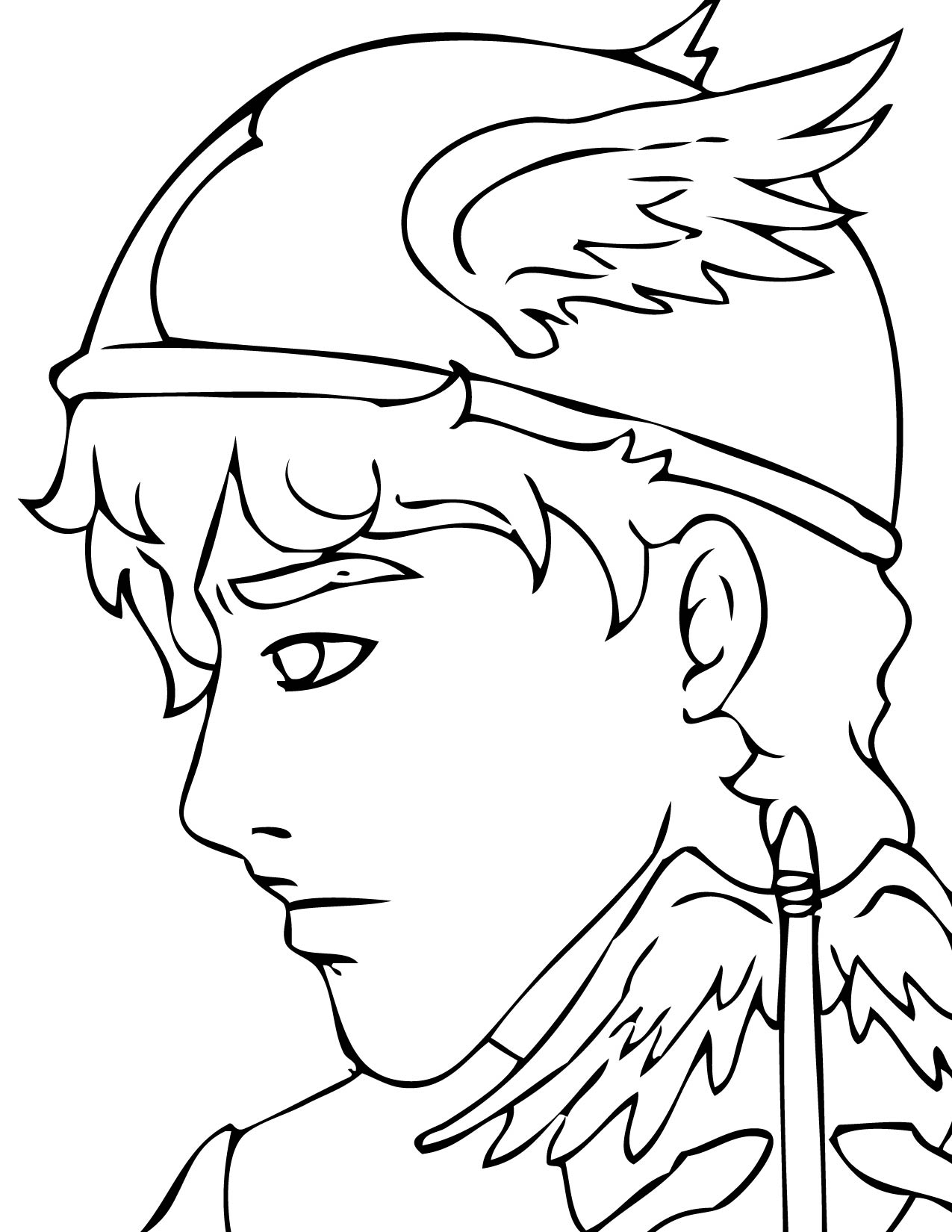 1275x1650 Hermes Coloring Page