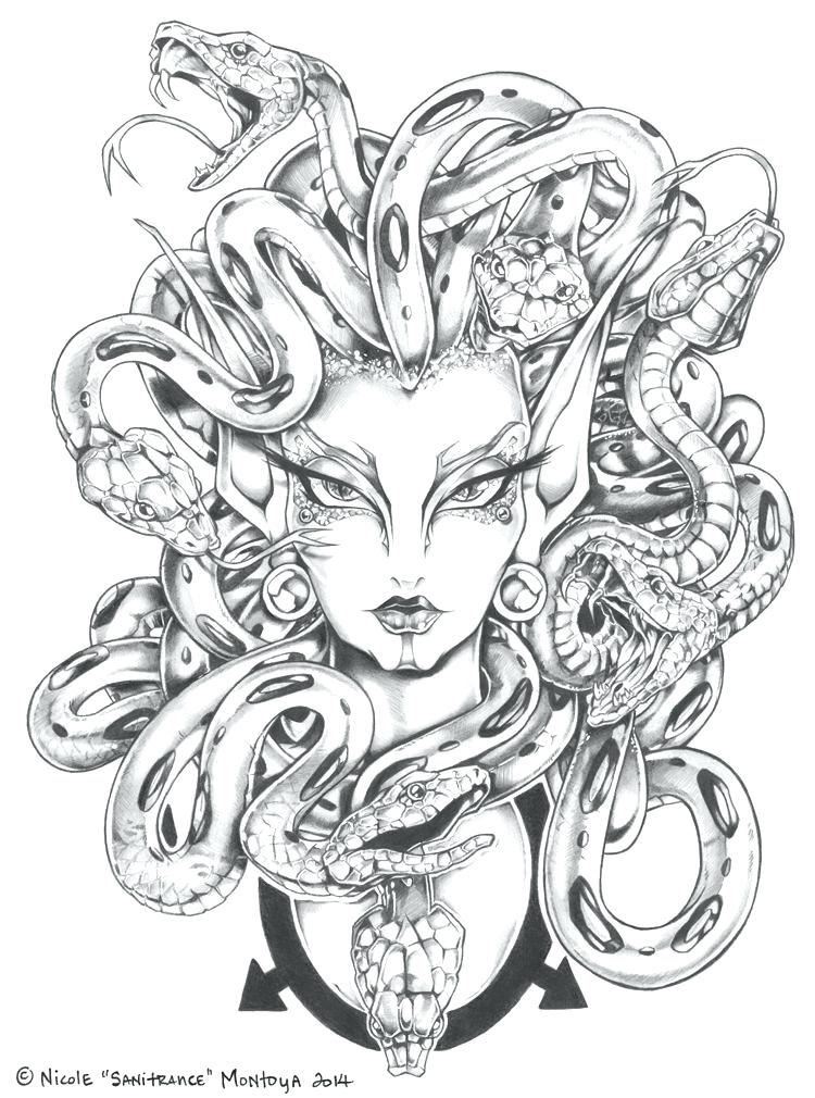 750x1010 Greek Mythology Coloring Pages Medusa Coloring Pages Gallery