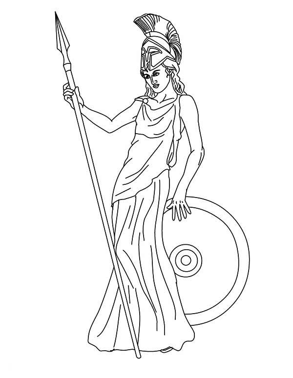 600x775 Coloring Pages Goddesses For Free The Goddess Athena