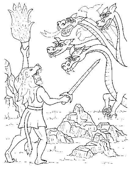 432x557 Greek Mythology Hercules Coloring Pages