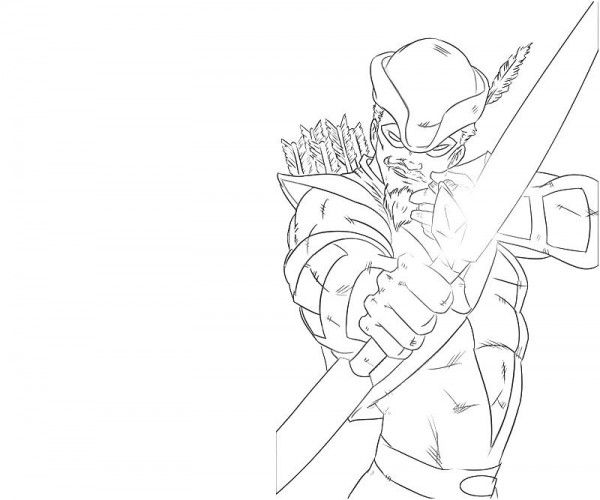 600x500 For Green Arrow Coloring Pages