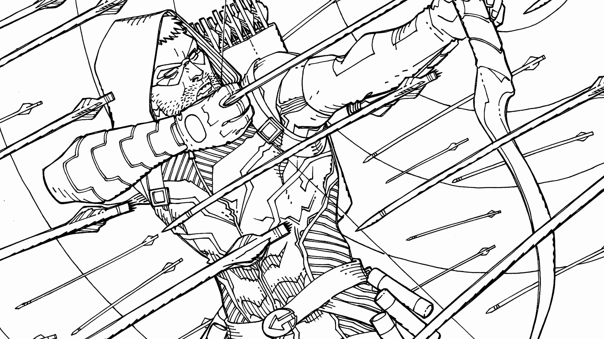 1920x1080 Green Arrow Coloring Pages
