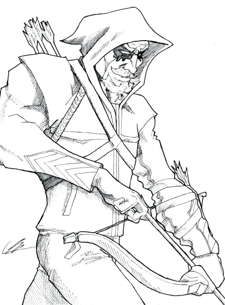 756x1024 Amazing Green Arrow Coloring Pages On Coloring Pages For Kids