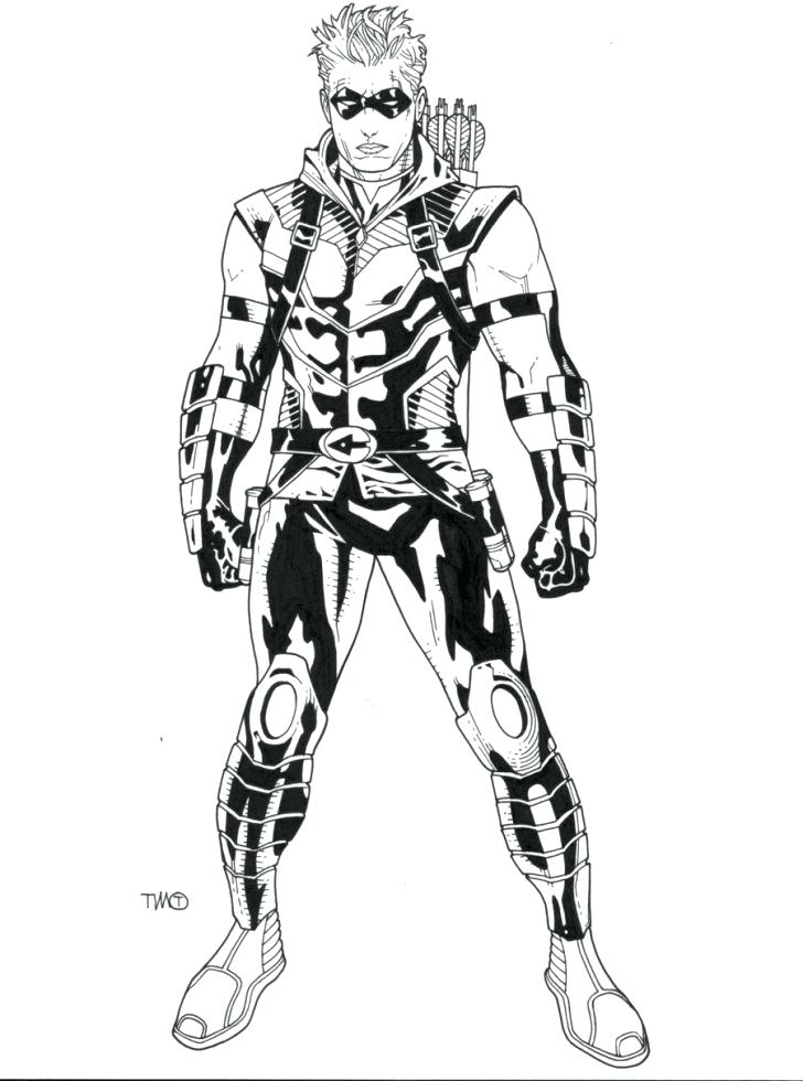 728x980 Green Arrow Coloring Pages Green Arrow Coloring Pages