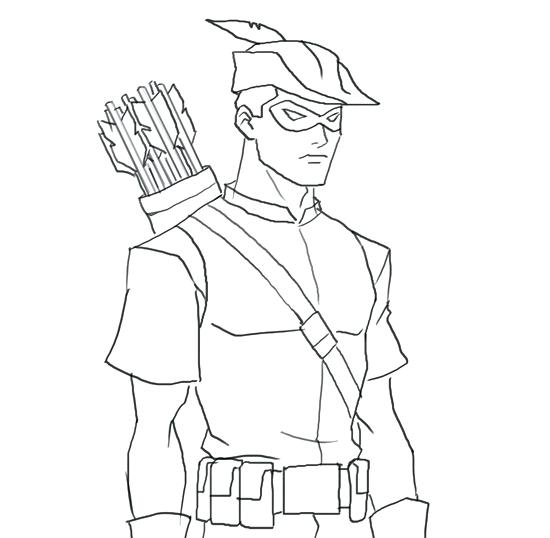 550x538 Green Arrow Coloring Pages How To Draw Arsenal Drawing And Digital