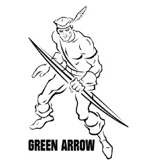 Green Arrow Coloring Pages At Getdrawings Com Free For Personal